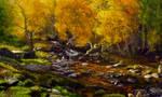 Gouache Landscape  Painting