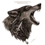Wolf FOGG Drawing by AmBr0