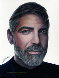George Clooney Drawing