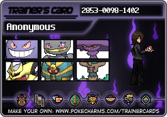 Trainer Card - Anonymous by LoZSkullKid