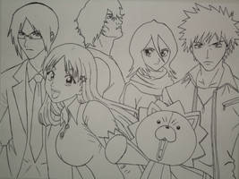 Bleach Friends Line Art by volleyballplayer13