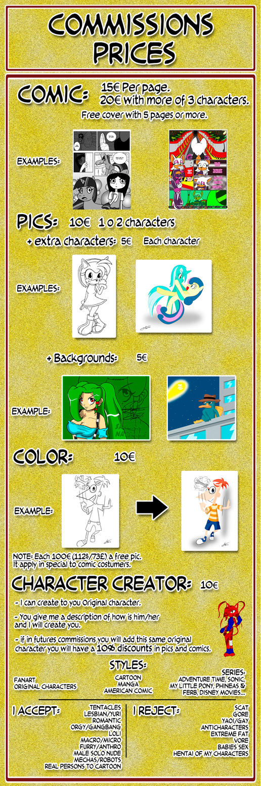 :: Commissions prices :: Last Update 18/MAY/2015 by Otakon7