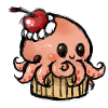 Octopus cupcake by ToasterStrudel-PhD