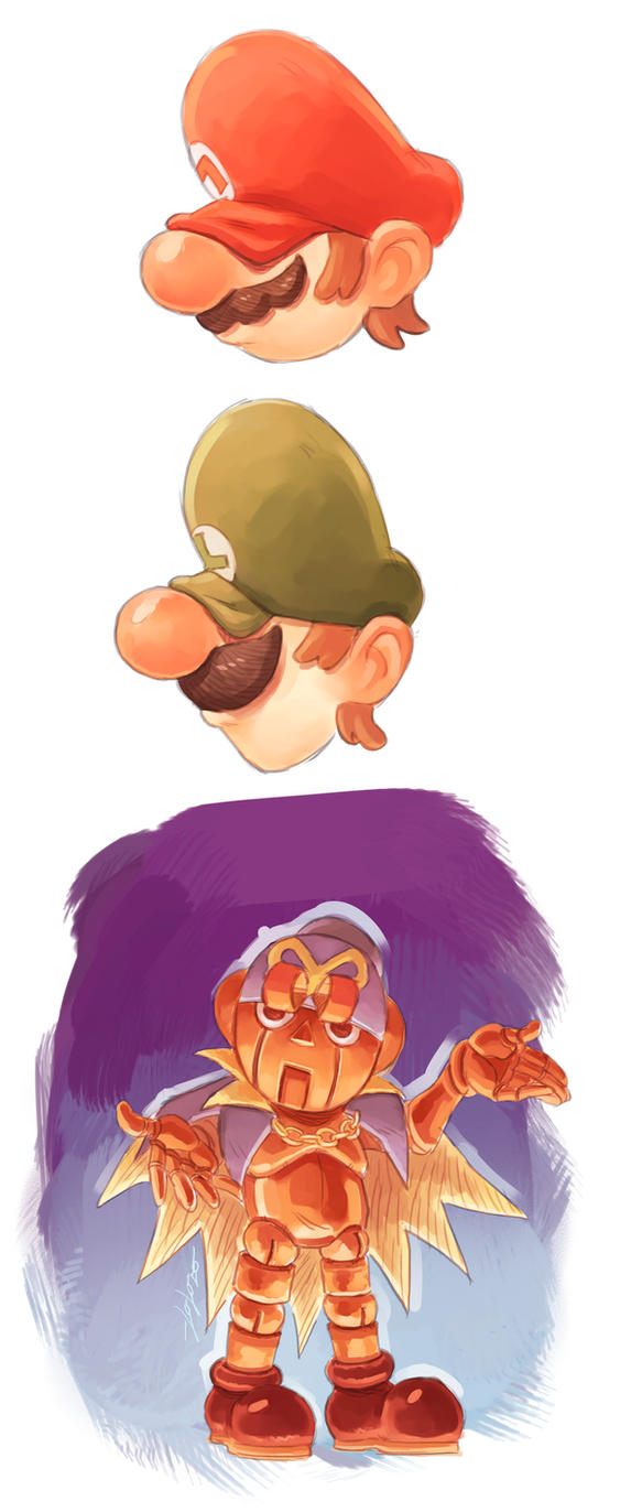 Super Mario Sketches (EDITADO) by loloxomoxo