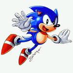 Sonic the Hedgehog - by Juanito Medina
