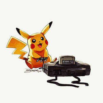 Pikachu - by Juanito Medina