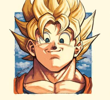 DBFZ - Portraits 01: GOKU (Super Saiyan)