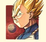 DBFZ - Portraits 01: VEGETA (Super Saiyan)