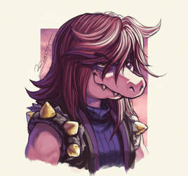 DELTARUNE's Party - SUSIE by JuanitoMedina