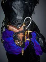 Steampunk blaster in holster by lilibat