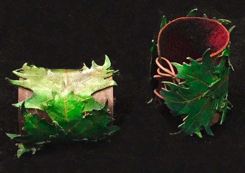 Leather Leaf feywild bracers by lilibat