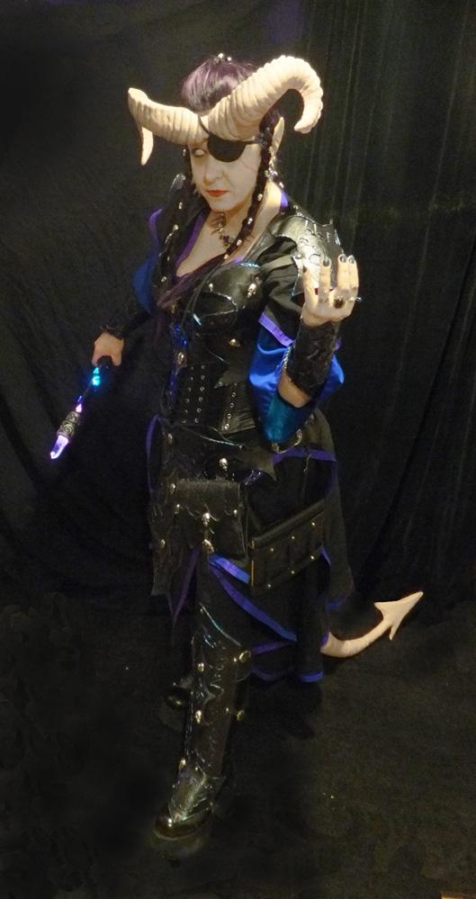 Tiefling Warlock sneak peek by lilibat