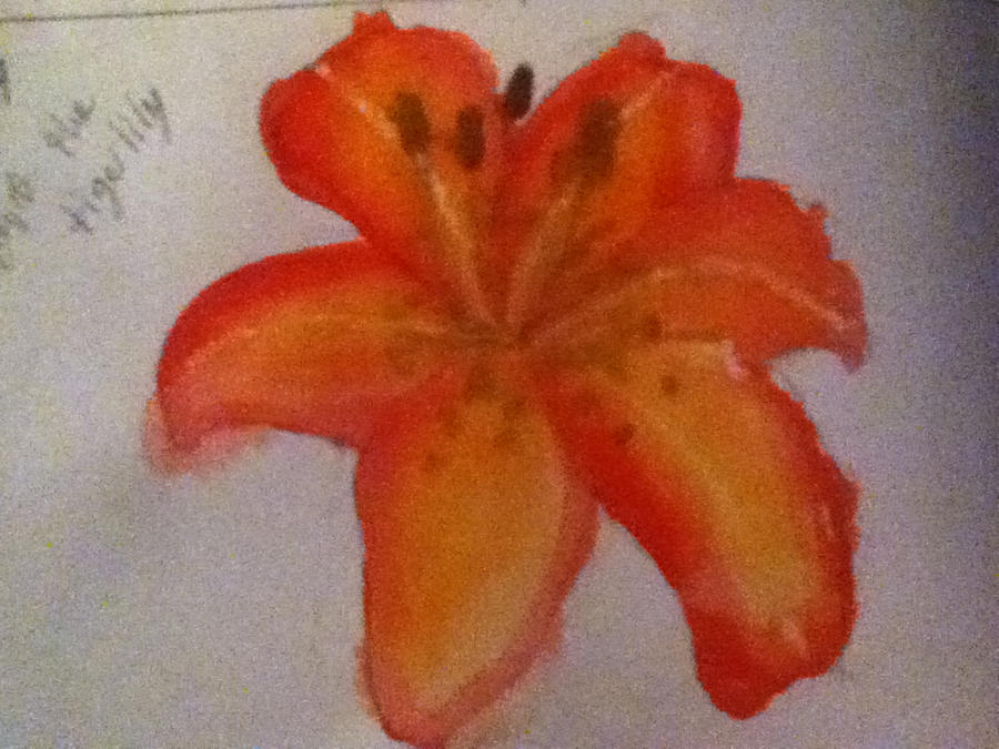 Water Colored Flower by TheDragonInTheCenter