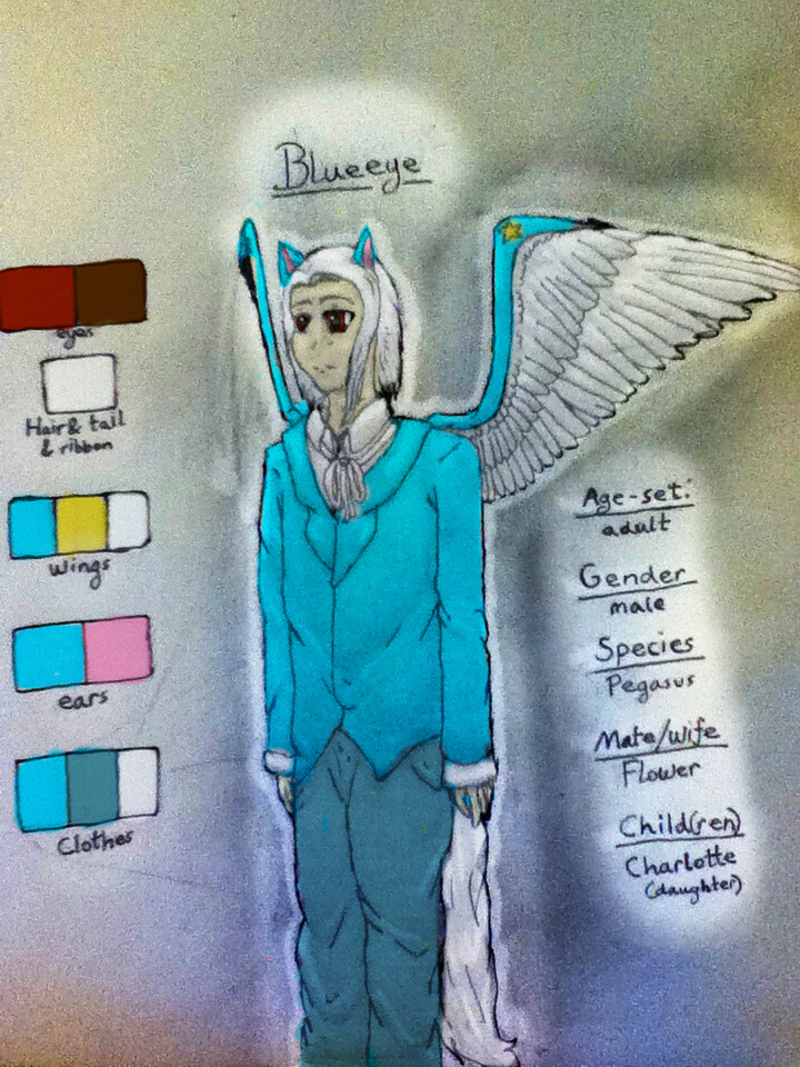 Blueeye Human Ref. Sheet by TheDragonInTheCenter