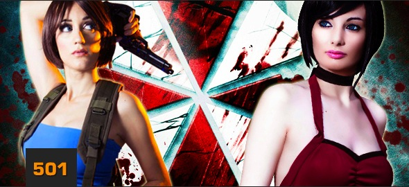 Ada Wong and Jill cosplay by ZombieQueenAlly
