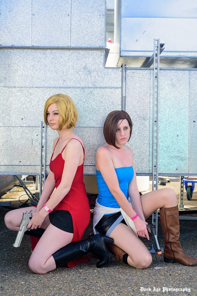 Alice and Jill Valentine by ZombieQueenAlly