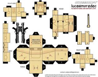 cubeecraft battle droid by Lucasmoredec