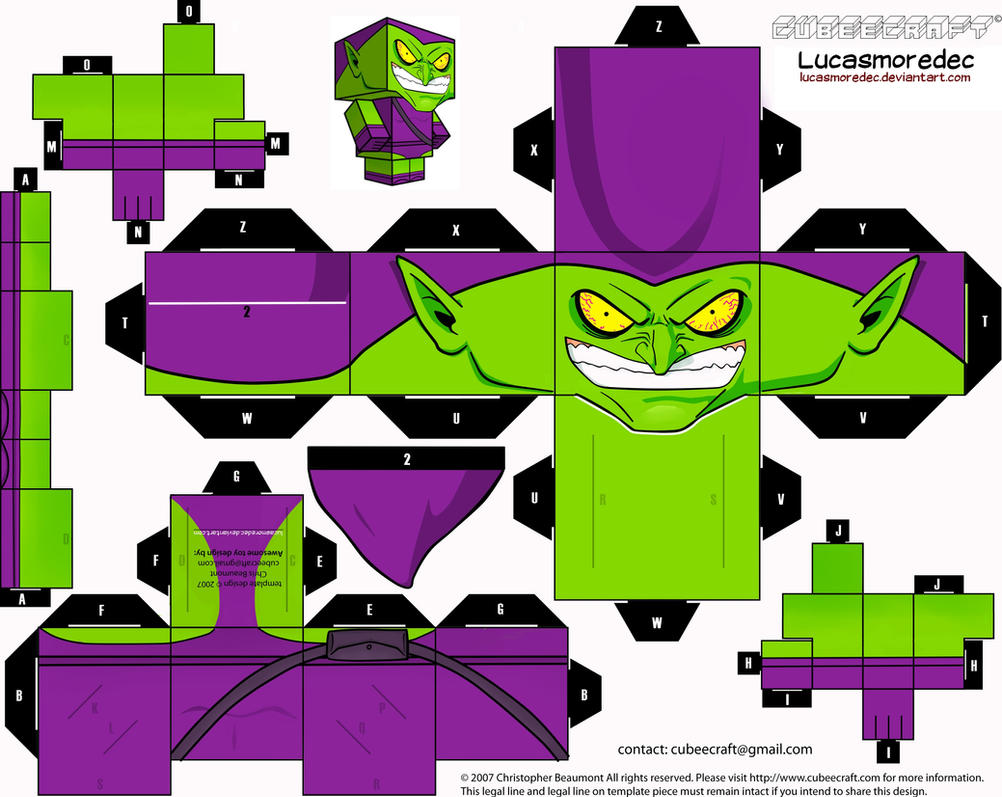Green Goblin Cubeecraft by Lucasmoredec