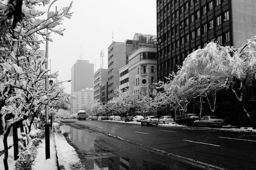 A Snowy day in Tehran