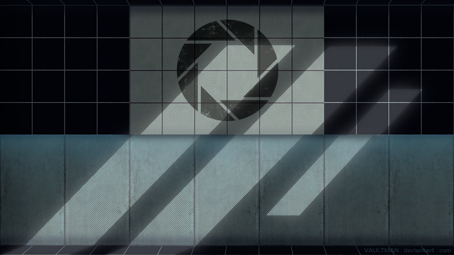 portal 2 logo font. portal 2 wallpaper companion