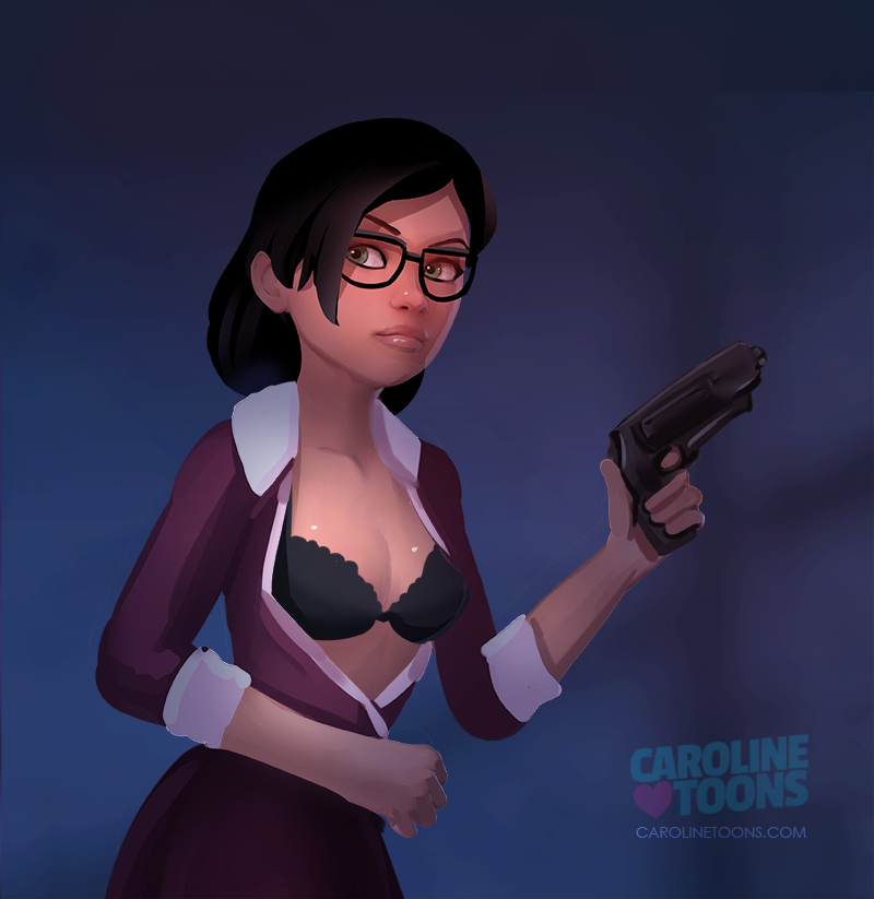 Miss Pauling - clothed version by VaultMan on DeviantArt