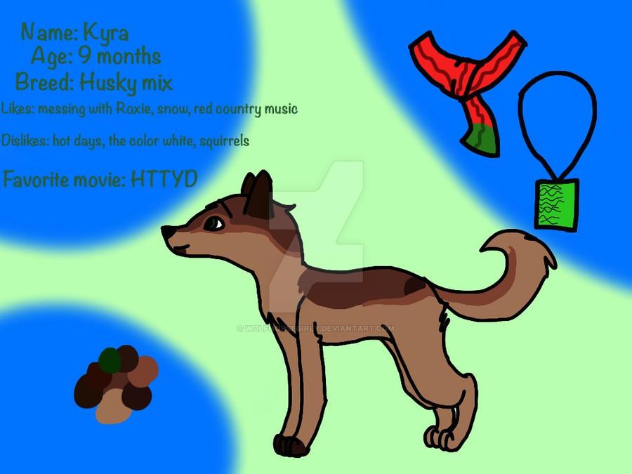 Kyra ref sheet by Wolfhorsegirly