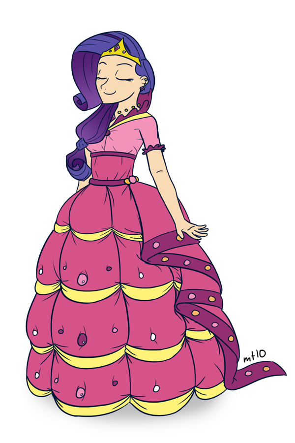 humanized rarity in dress by empty10 on deviantart