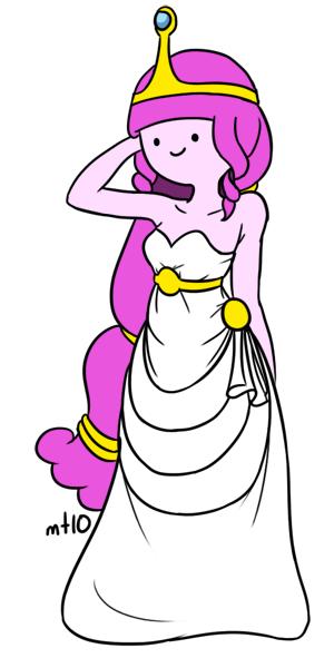 Princess Bubblegum white dress by empty-10 on DeviantArt