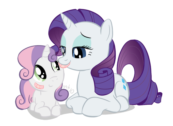 My little pony rarity and sweetie belle - photo#13