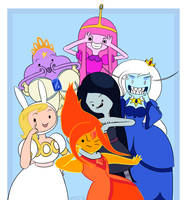 Adventure Time Girls smile for the camera