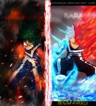 boku no hero academia - Izuku  VS Shouto -Collab