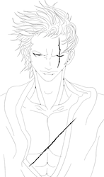 ONE PIECE - ZORO lineart by Acnoxsus