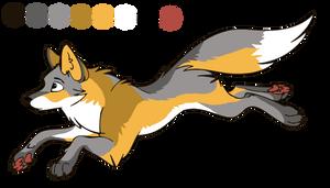 commission - golden island fox design by StanHoneyThief