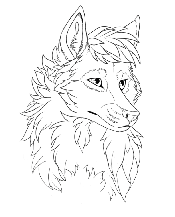 Line Drawing Wolf Head : Wolf head free lineart by stanhoneythief on deviantart