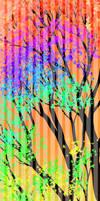 Psychodelic rainbow Fall custom box BG - FREE