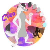 Refsheet - Cleo the wolf wiesli - tokota handler