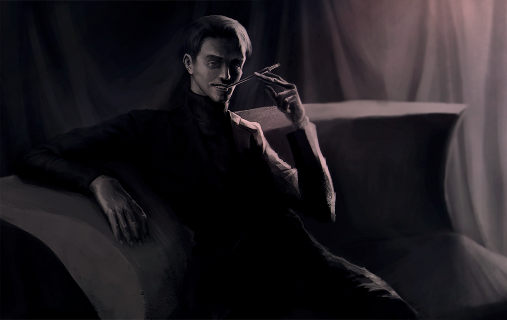 guy on the sofa by PblW3YKA