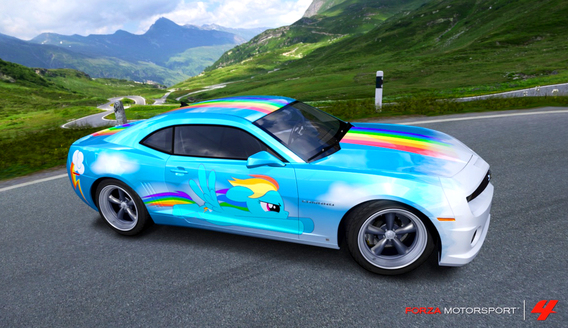 Rainbow Dash Camaro by nrxia