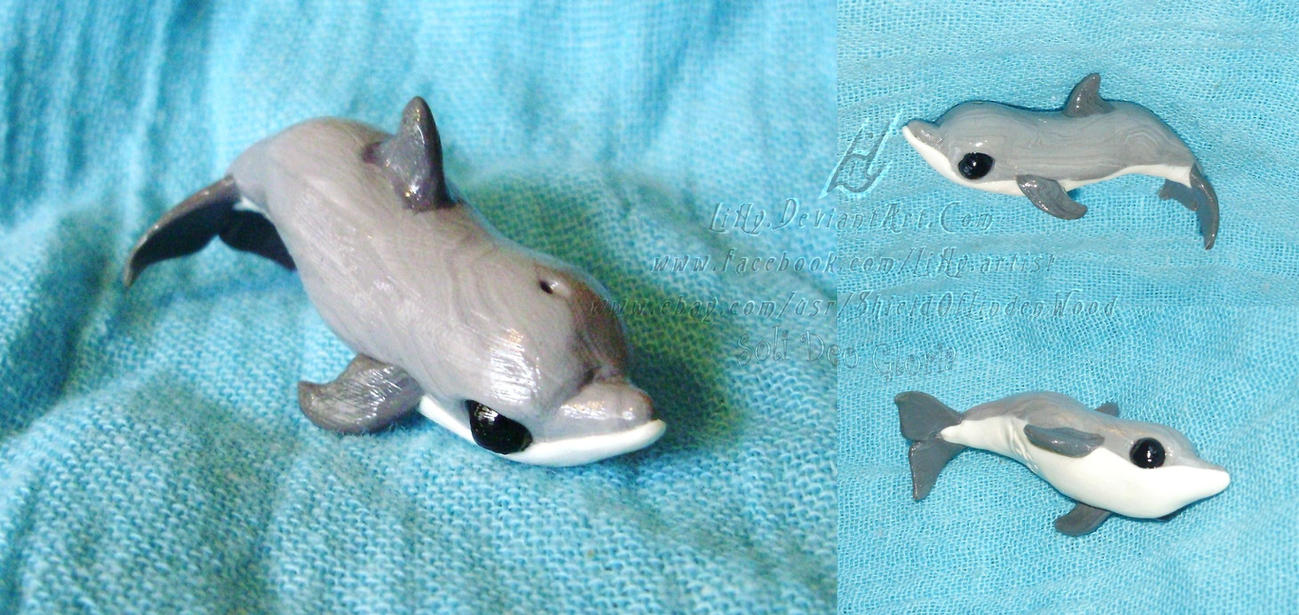 FOR SALE ~ 1st Bottlenose Dolphin Sculpture by LiHy
