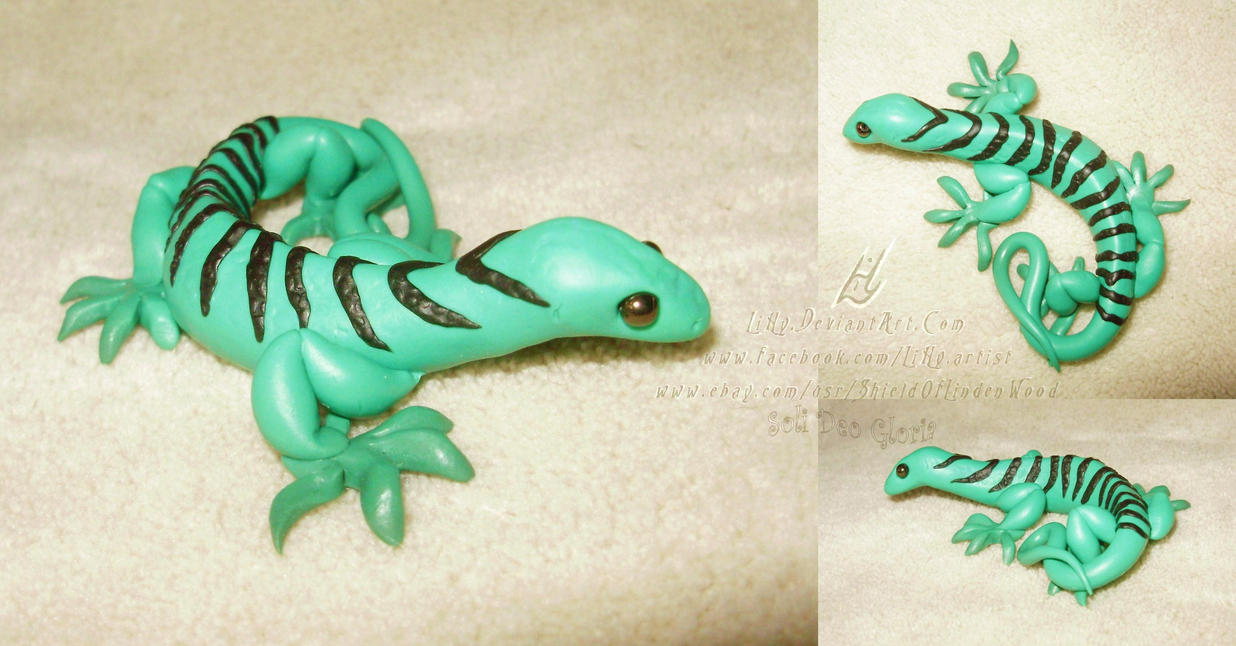 FOR SALE ~ 1st Emerald Tree Monitor Sculpture by LiHy