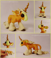 SOLD ~ Summer Palomino Unicorn Sculpture by LiHy