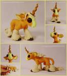 SOLD ~ Summer Palomino Unicorn Sculpture