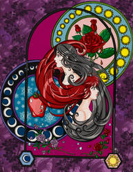 Snow white and Rose Red by jezzebelle27