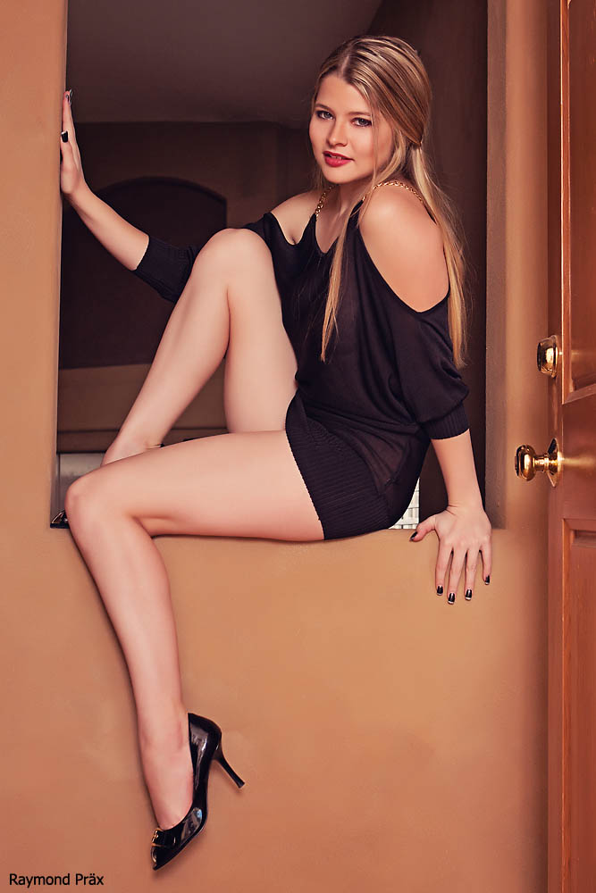 Katsya in the black dress 04 by RaymondPrax