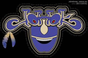 JoHoK Symetrique lttr 2 Masque Indien 1b by lunnatick