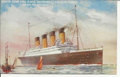 1914 RMS Britannic Postcard