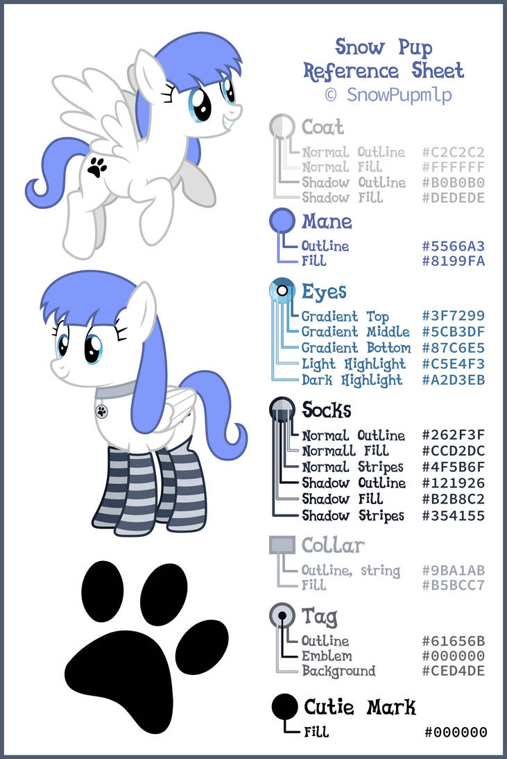 Snow Pup Reference Sheet by SnowPupmlp