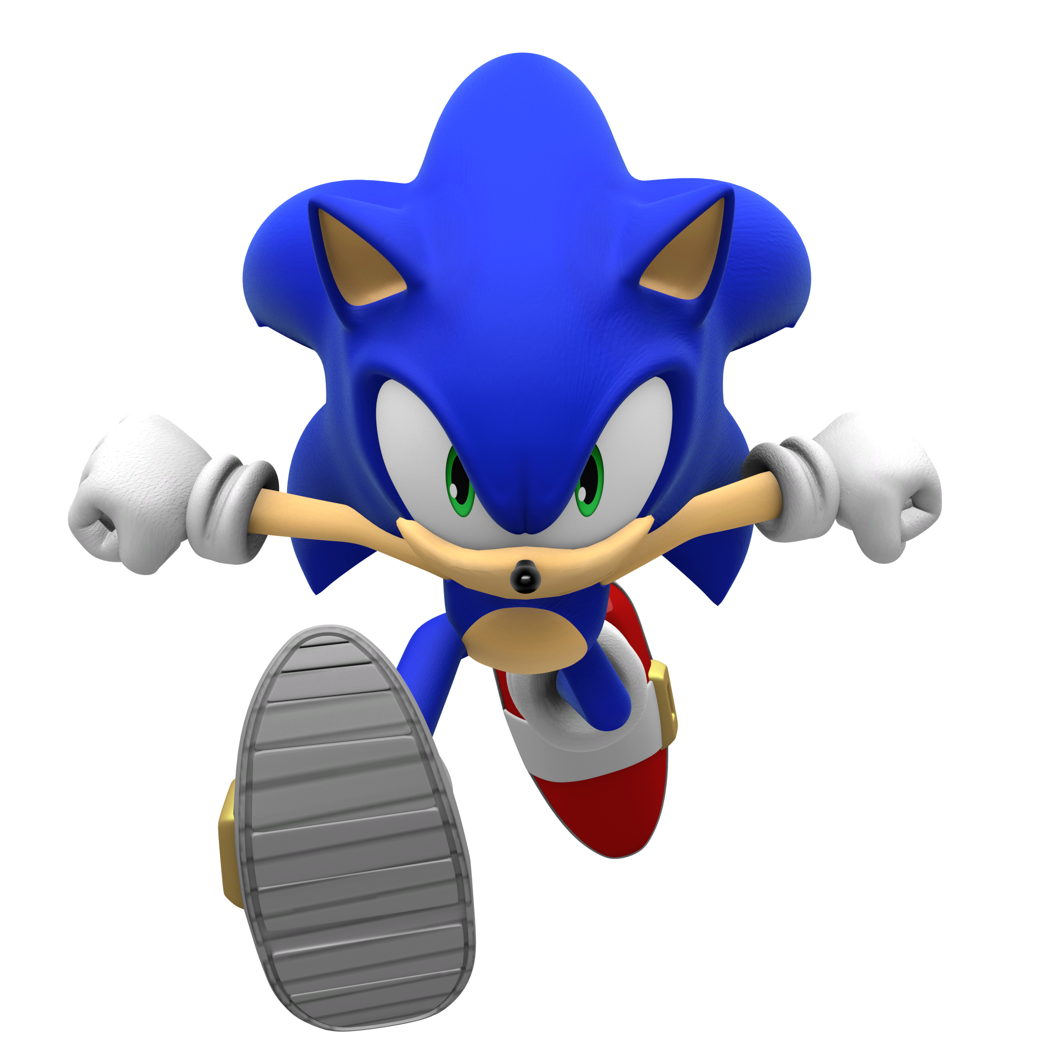Group of Sonic Running Pose Render