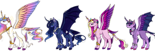 MLP:FiM Princess HC/AU/NG Redesigns