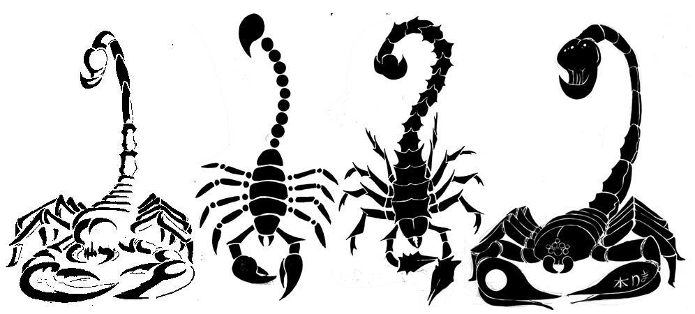 Tribal Scorpion Tattoo